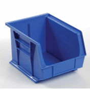 Hanging & Stacking Storage Bin 8-1/4 x 10-3/4 x 7, Blue - Pkg Qty 6