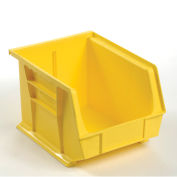 Plastic Storage Bin - Parts Storage Bin 8-1/4 x 10-3/4 x 7, Yellow - Pkg Qty 6