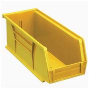 Plastic Storage Bin, 4-1/8 x 10-7/8 x 4, Yellow - Pkg Qty 12