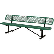 "96""  Bench With Back Rest, Green"