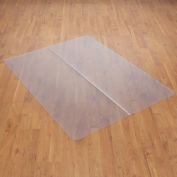 "Chair Mat for Hard Floor, 46""W x 60""L, Straight Edge"