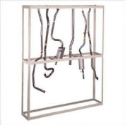 """Hanging Tailpipe Rack, Steel, Gray, 96""""W x 18""""D x 120""""H"""