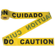 """CAUTION"" Tape, 300' x 3"", Yellow, 1 Roll"