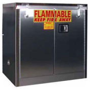 36x24x37 30-Gallon Self-Close Flammable Cabinet Stainless Steel