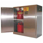 "30-Gallon 43""W Manual Close, Flammable Cabinet Stainless Steel"