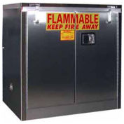 "30-Gallon 36""W Manual Close, Flammable Cabinet Stainless Steel"