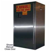12-Gallon Sliding Door Flammable Cabinet Stainless Steel