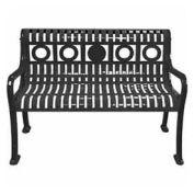 Ring Pattern Bench, Black, 4'