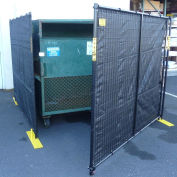 4 Sided Dumpster Enclosure With Gate, 15'W x 7-1/2'D x 6'H