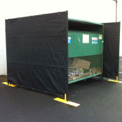 3 Sided Dumpster Enclosure, 7-1/2'W x 7-1/2'D x 6'H