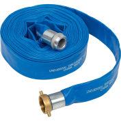 "Apache 1-1/2"" x 50' PVC Lay Flat Discharge Hose w/ M x F Aluminum Short Shanks, 98138015"