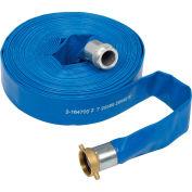 "Apache 2"" x 100' PVC Lay Flat Discharge Hose w/ M x F Aluminum Short Shanks, 98138054"