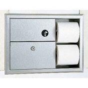 Bobrick ClassicSeries Recessed Sanitary Disposal & Tissue Dispenser