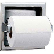 Bobrick Recessed Tissue Dispenser w/ Extra Roll Storage Space, Satin