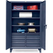 STRONG HOLD Ultra-Capacity Cabinet with Drawers - 48x24x78""