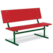 3' Kid's Size Park Bench, Red Polyethylene