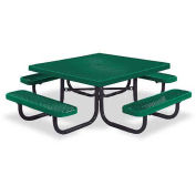 "46"" Square Children's Picnic Table, Portable, Expanded Metal, Green"