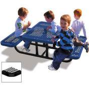 4' Rectangular Children's Picnic Table, Expanded Metal, Black
