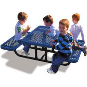 4' Rectangular Children's Picnic Table, Expanded Metal, Blue
