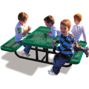 4' Rectangular Children's Picnic Table, Expanded Metal, Green
