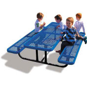 6' Rectangular Children's Picnic Table, Expanded Metal, Blue