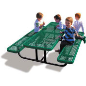 6' Rectangular Children's Picnic Table, Expanded Metal, Green