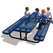 8' Rectangular Child's Picnic Table, Blue