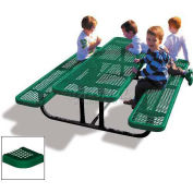 6' Rectangular Child's Picnic Table, Green