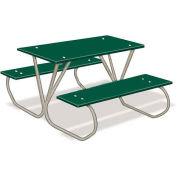 3' Preschool Table with Galvanized Frame, Green, Polyethylene