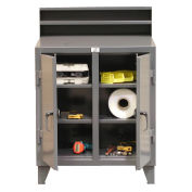 "2 Person Locker Desk, 36""W x 28""D x 54""H, Gray"