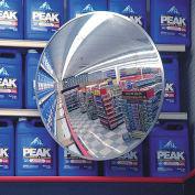 """Indoor/Outdoor Polycarbonate Convex Circular Mirror, 12"""" Dia."""