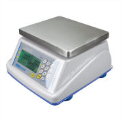 "Adam Equipment Digital Washdown Retail Scale 15lb x 0.005lb 8-5/16"" x 6-13/16"" Platform, WBZ15a"