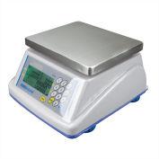 "Adam Equipment WBZ30a Digital Washdown Retail Scale 30lb x 0.01lb 8-5/16"" x 6-13/16"" Platform"