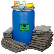 Chemtex SPK55B-U 55 Gallon Universal Drum Spill Kit, Blue