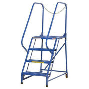 "Maintenance Ladder, 4 Step Grip-Strut, 43-1/2""L x 29-1/2""W x 70""H (40""H Top Step)"