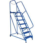 "Maintenance Ladder, 7 Step Grip-Strut, 62-1/2""L x 29-1/2""W x 100""H (70""H Top Step)"