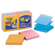 Super Sticky Pop-up Notes R330-10SSAN, 3 in x 3 in, Assorted Neon, 10 pads/pk