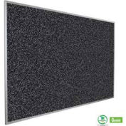 "Balt® Rubber-Tak Tackboard with Aluminum Trim 48""W x 36""H Black"