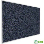 "Balt® Rubber-Tak Tackboard with Aluminum Trim 48""W x 36""H Blue"