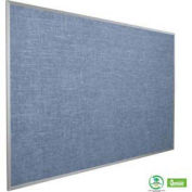 "Balt® Vinyl Cork-Plate Tackboard with Aluminum Trim 48""W x 36""H, Pacific Blue"