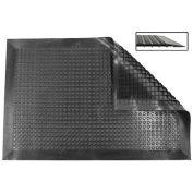 Ergomat Nitril Smooth Anti-Fatigue Mat, 4' X 9', Black