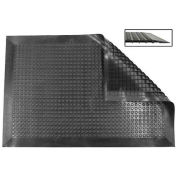 Ergomat Nitril Smooth Anti-Fatigue Mat, 2' X 11', Black