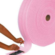 "1/4"" Thick Perforated Anti-Static Air Foam Rolls, 18""W x 250'L, Pink, 12"" 4 Rolls/Pk, FW14S18ASP"