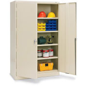 "TENNSCO 48""W Jumbo Storage Cabinet - 48x18x78"" - All-Welded - Putty"