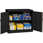 "Tennsco Jumbo Storage Cabinet, Unassembled 48""W X 18""D X 42""H, Black"