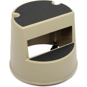 Rubbermaid Commercial FG252300BEIG Mobile Two-Step Step Stool Beige