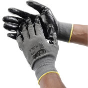 PIP G-Tek® Nitrile Coated Nylon Grip Gloves, Black/Gray, X-Large, 12 Pairs