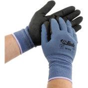 PIP G-Tek® Nitrile MicroSurface Nylon Grip Gloves, Blue/Black, XL, 12 Pairs
