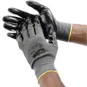 PIP G-Tek® Nitrile Coated Nylon Grip Gloves, Black/Gray, Large, 12 Pairs