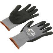 PIP G-Tek® MaxiFlex Nitrile Coated Knit Nylon Gloves, Gray/Black, Large, 12 Pairs